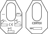 Säkra lyft märkning Certex